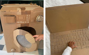 Mom Of Two Makes Everyday Household Items And Toys Out Of Repurposed Cardboard