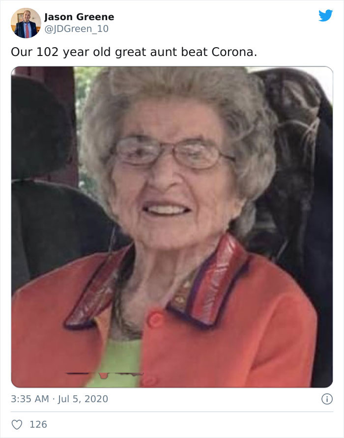 Our 102 Year Old Great Aunt Beat Corona