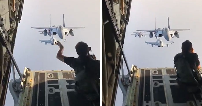 This Journalist Shared Behind-The-Scenes Videos Of How Military Jet Fighters Are Photographed