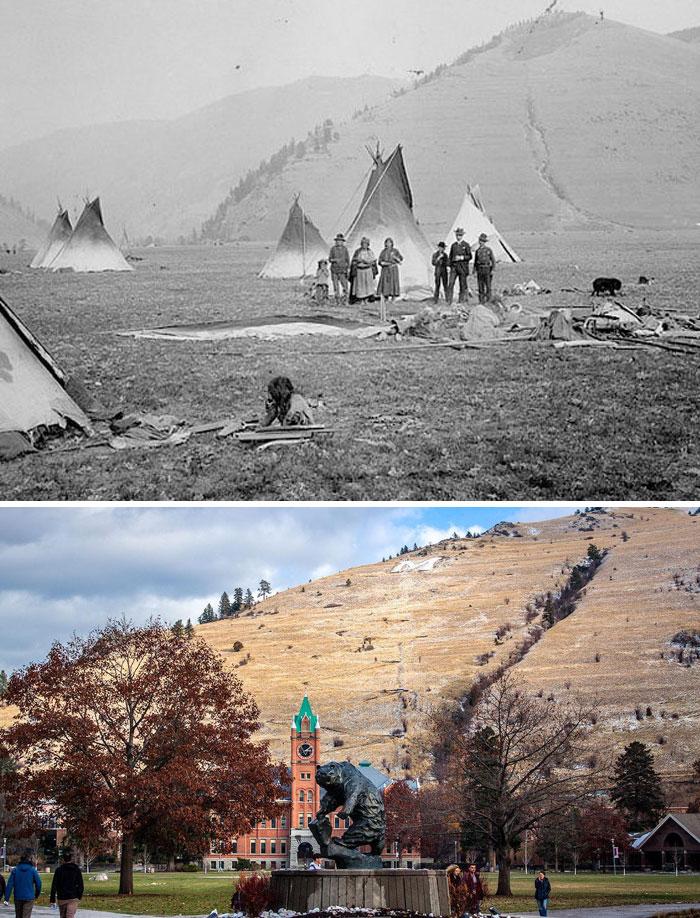 University Of Montana ~150 Years Apart