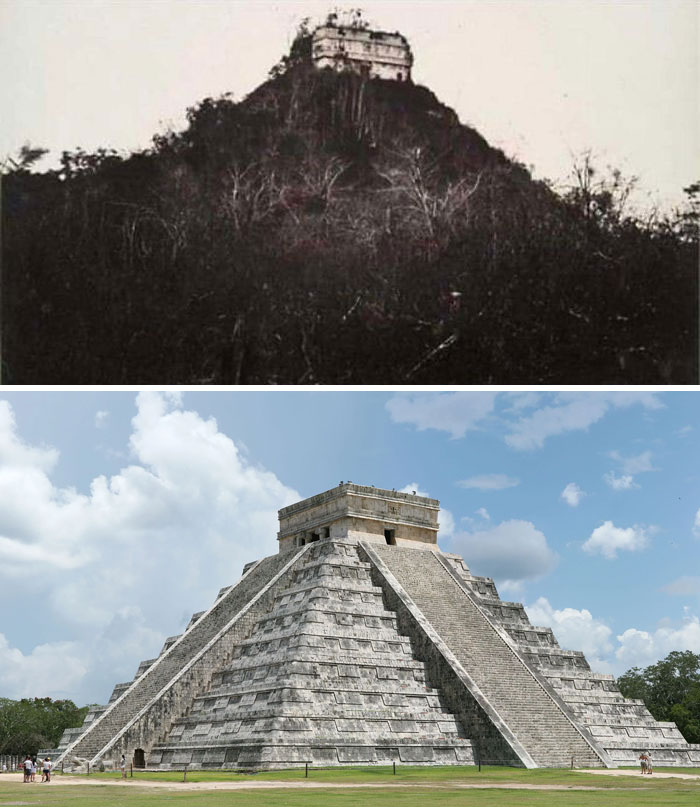 Chichen Itza 1892 And Now