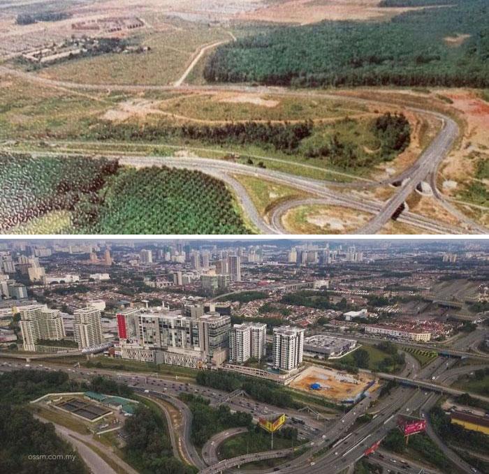 Subang Jaya, Selangor. 44 Years Apart