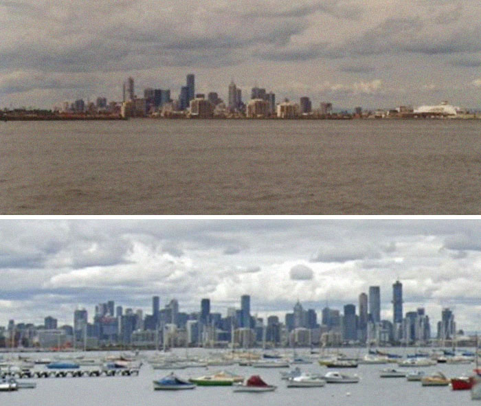 I Just Made This To Show Just How Much Melbourne's Skyline Has Grown In 20 Years...