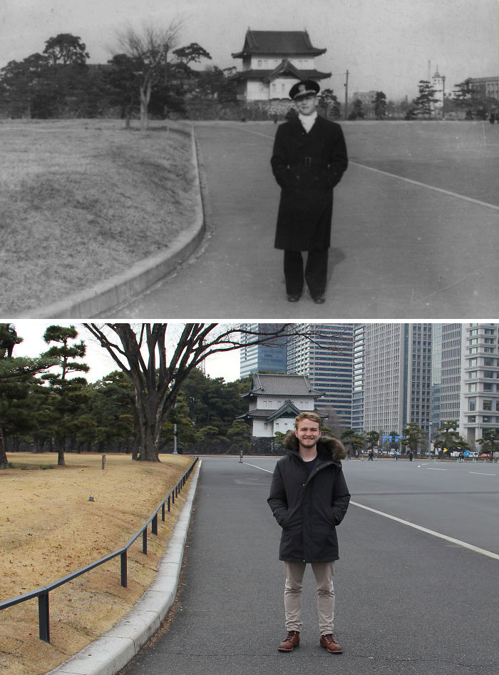 My Grandfather And I In Tokyo, 73 Years Apart
