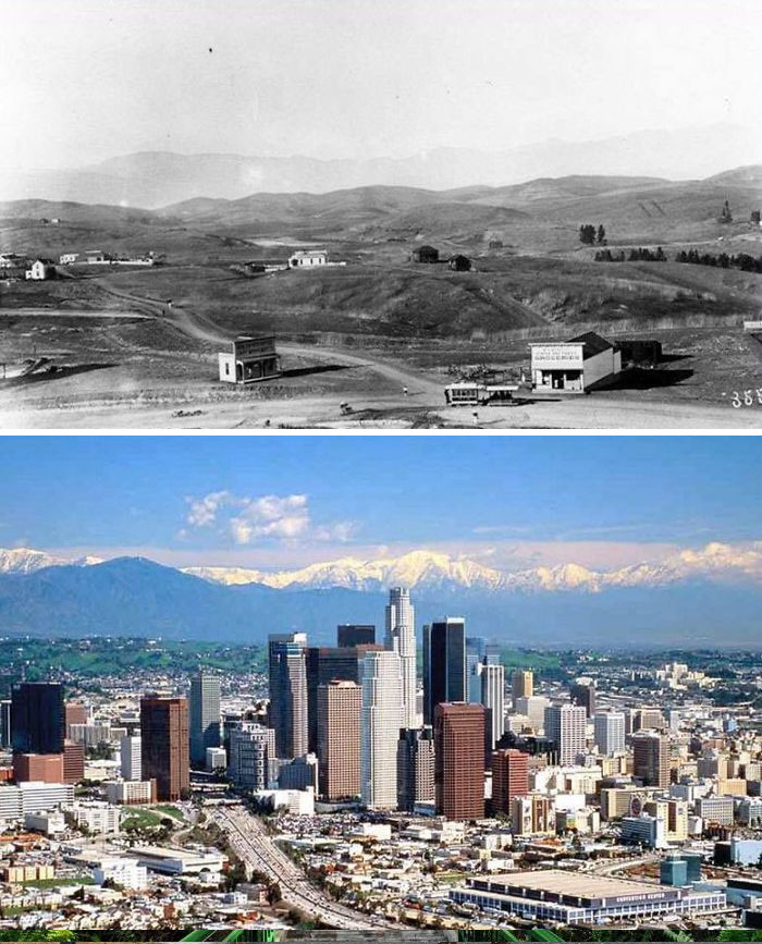 Early Los Angeles Compared To 2001