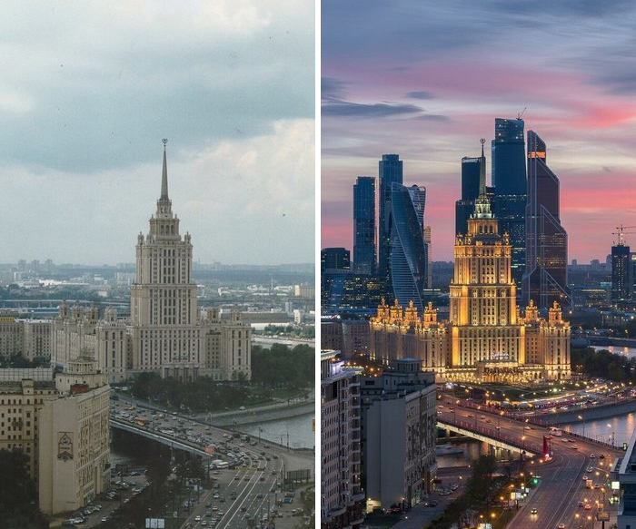 Moscow Pictures 20 Years Apart