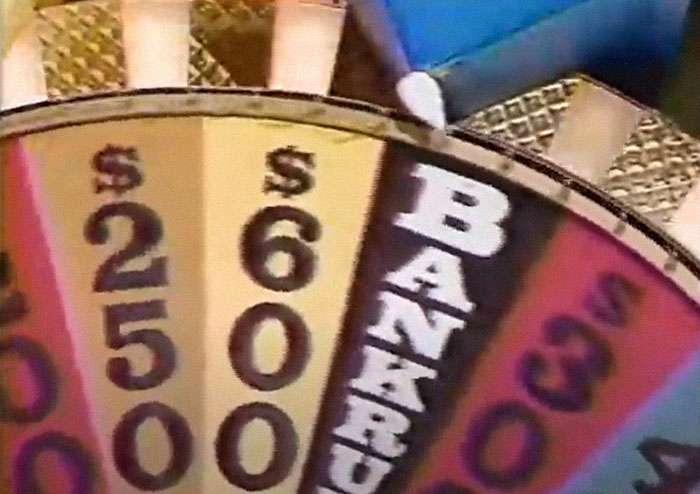 On Wheel Of Fortune, 1986