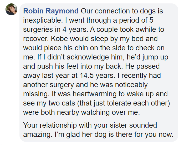Woman Loses Her Sister To Most cancers, Sister's Canine Jet Steps In To Assist Her Mourn And They Change into Inseparable