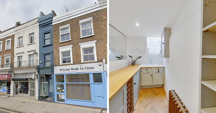 Here's London's Narrowest Home At Only 5 ft 5 in Across And It's Currently On The Market For Nearly $1.3M
