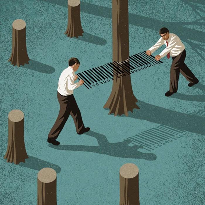 Lo que está mal en la sociedad actual retratado en 32 ilustraciones brutalmente honestas de John Holcroft