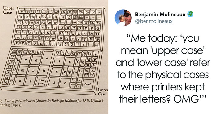 This Guy Explains The Origins Of Words 'Upper-' And 'Lowercase,' Others Join In With Interesting Typography Trivia As Well (13 Facts)