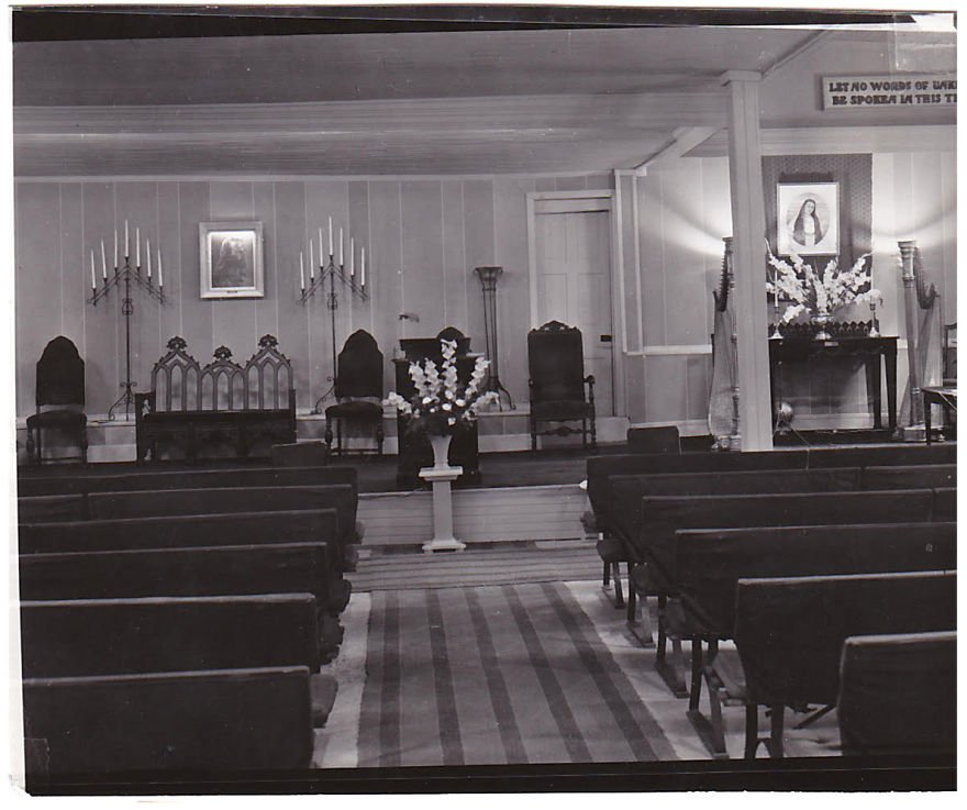Jack Edwards Inside The Chapel At Camp Silver Belle, With Silver Belle's Altar To The Right, 1950s