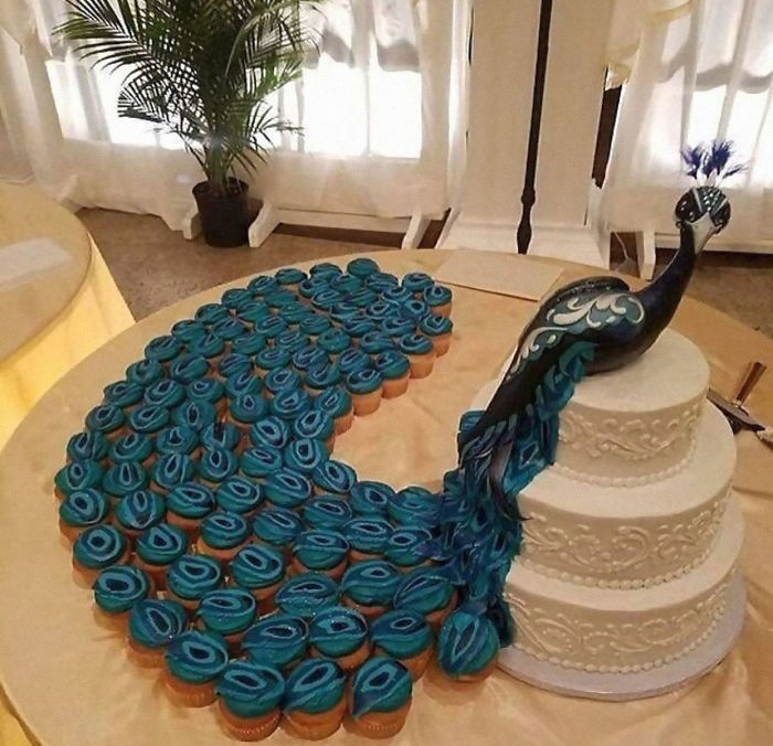 An Extremely Creative Wedding Cake