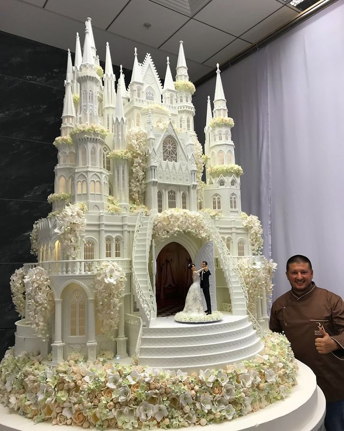 Amazing Detail On This Wedding Cake