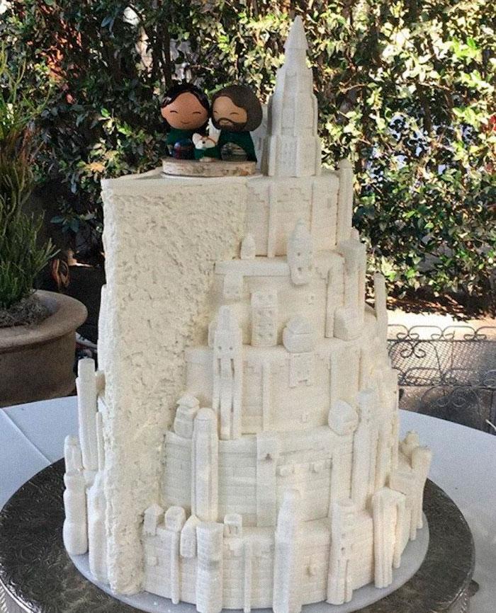 This Lotr (Minas Tirith) Wedding Cake