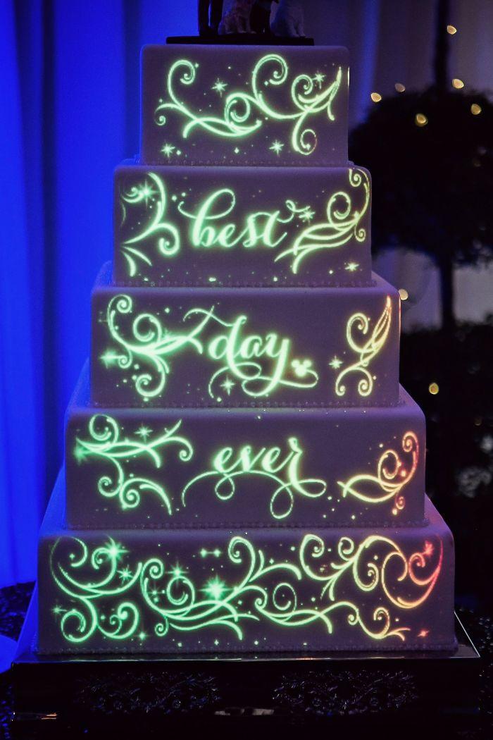 Glowing In The Dark Wedding Cake