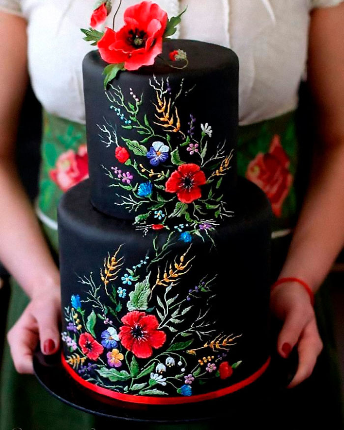Embroidered Wedding Cake
