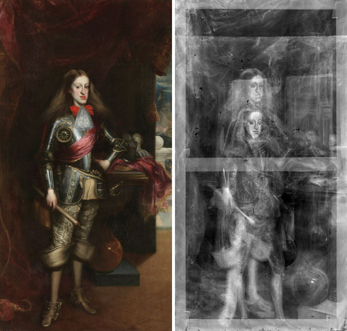 X-Ray Scans Of A Painting Of The Young Charles II Of Spain Reveal That The Artist Painted Over An Earlier Painting When Charles Was A Few Years Younger