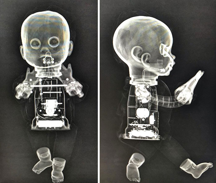 I Love How Sinister These Cute, Innocent Dolls Look Under X-Ray. It Shows Their True Colours