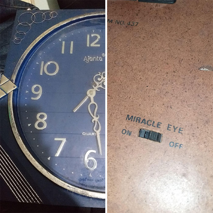 """Switch On The Back Of An Old Clock Labelled """"Miracle Eye"""". What Is This?"""