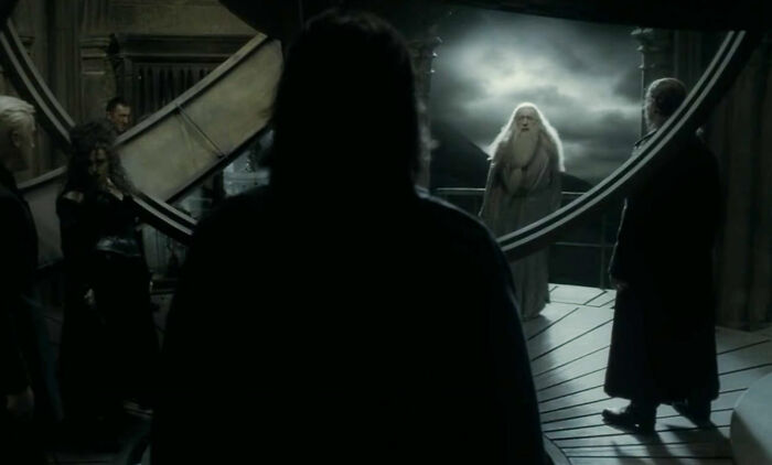 Before Severus Snape Kills Dumbledore, Dumbledore Paralyzes Harry And Throws The Invisibility Cloak On Him