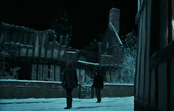 When Visiting His Home In Godric's Hollow, Harry Actually Saw A Sign There With Graffiti On It Expressing Support For Him