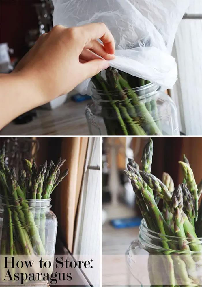 Store Asparagus Like Cut Flowers