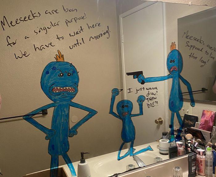 Husband-Bathroom-Mirror-Doodles-Drawings