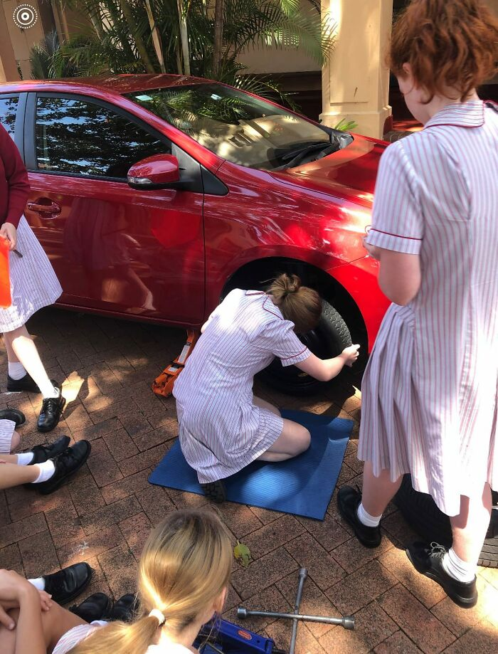 People Like This School For Breaking Gender Stereotypes And Teaching Year 11 Girls Car Maintenance And DIY Skills