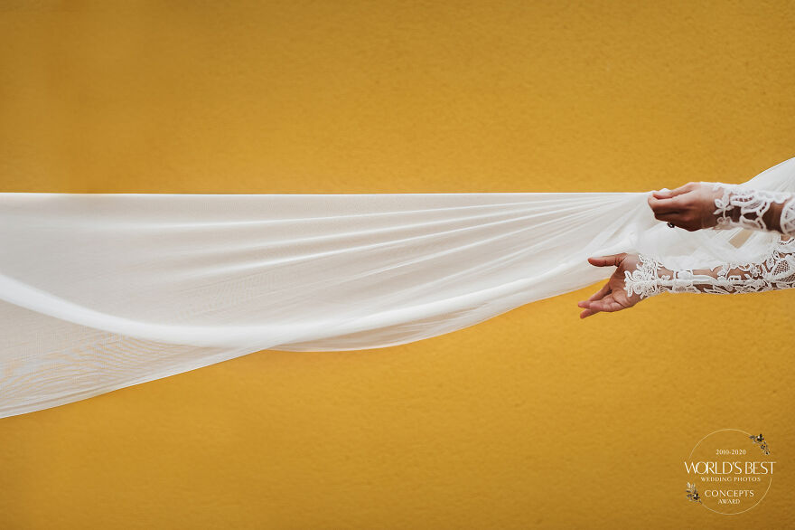 A Shot Every Bride Would Love Of Her Veil, By Victor Lax