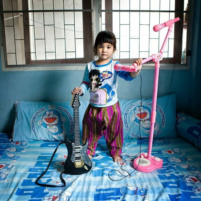 Porjai, 3 años, Bangkok, Tailandia