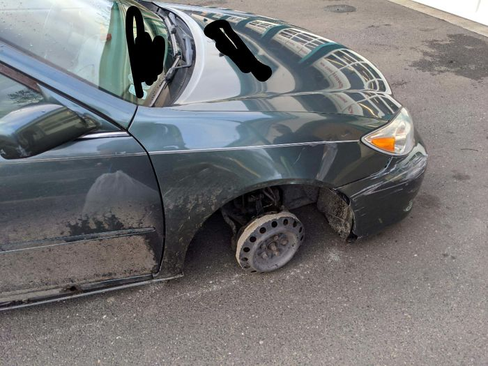 Guy Drove In Like This. Another Reason Why We Are Essential