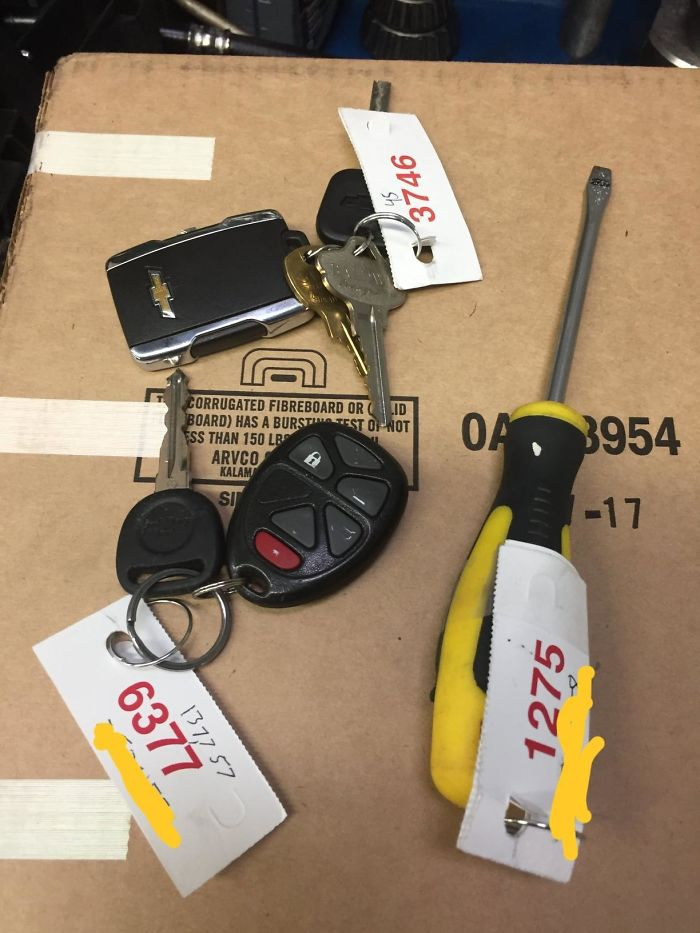 """An Actual """"Key"""" Supplied By A Customer"""