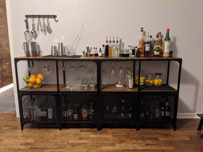 Homebar Made With Two Fjallbo Cabinets