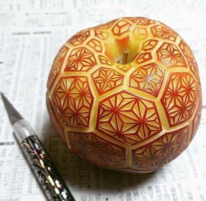 Beautiful Apple Carving
