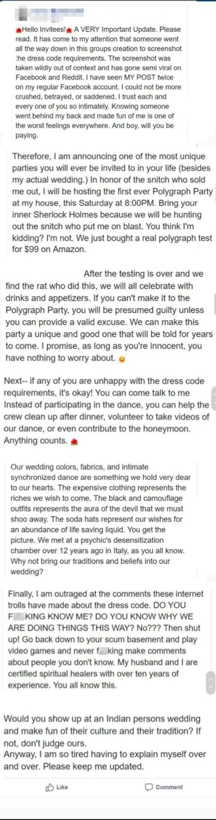 Bride Freaks Out After Finding Her Own Post On Reddit