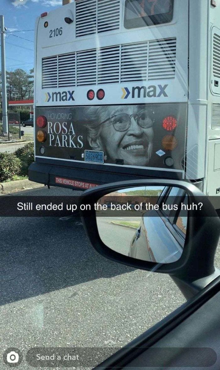 Honoring Rosa Parks On The Back Of A Bus...