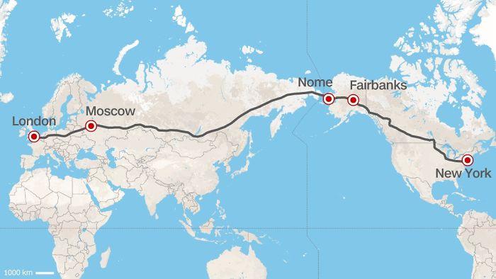 Superautopista entre Europa y EEUU propuesta por el expresidente de ferrocarriles rusos