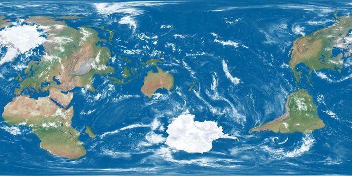 Dünya Büyük Britanya Merkezinde Merkezlenmiş, Keyfi, İşte Yeni Zelanda Merkezli Bir Harita