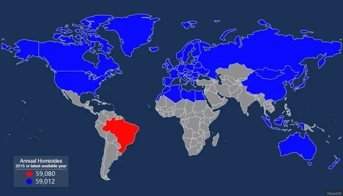 All The Nations That Have To Be Combined To Be Equal To Brazils Annual Homicides