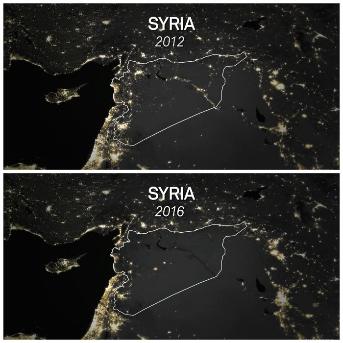 Siria antes y después de la guerra civil