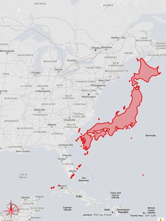 Japonya, Gerçekte Ne Kadar Büyük?