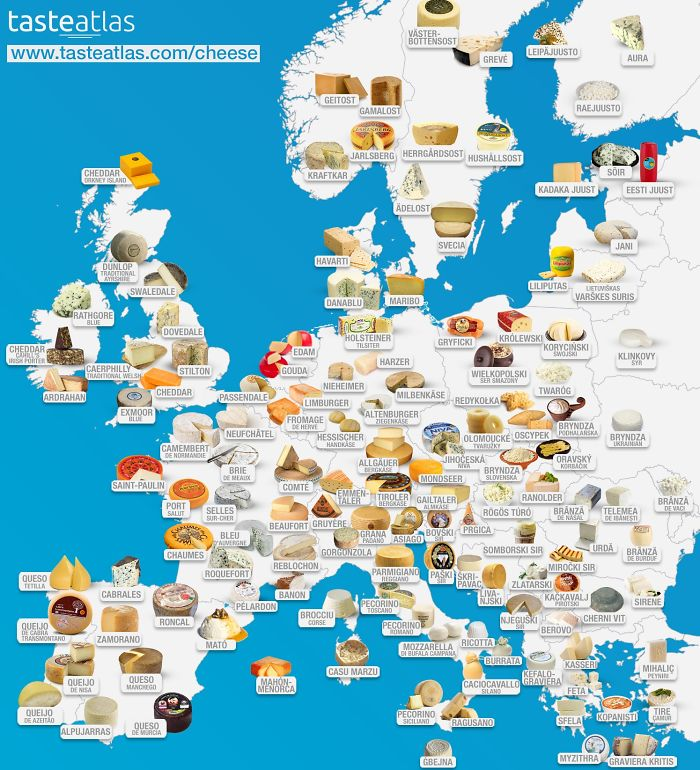 Avrupa Peynir Haritası
