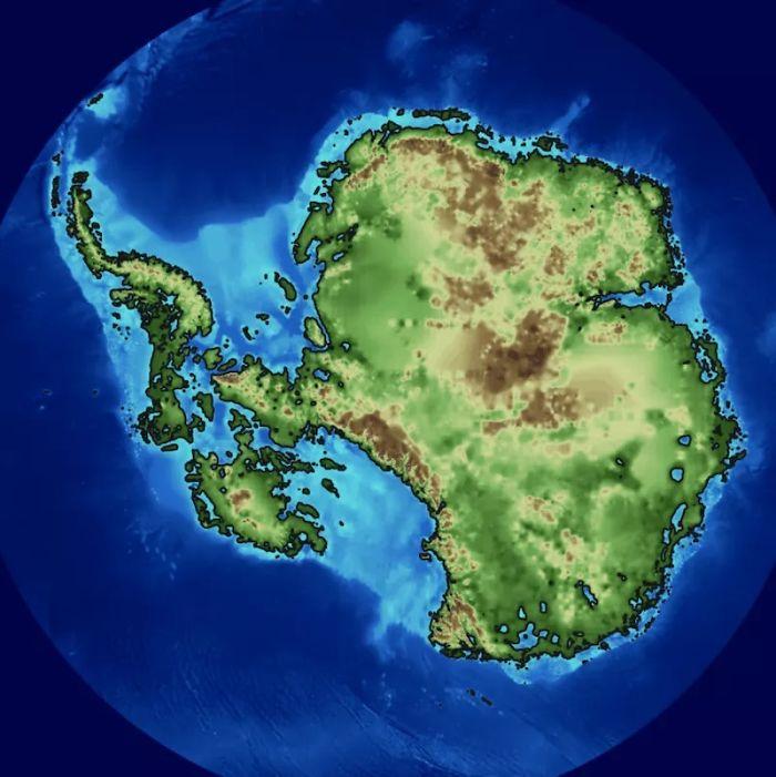 How The Antarctic Looks Beneath The Ice