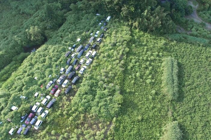 Radioactive Cars From The Fukushima Disaster Slowly Being Eaten By Nature