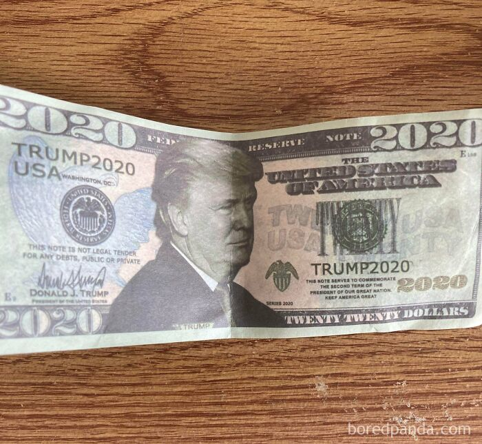 Psa: Please Don't Leave Stuff Like This In The Tip Jar. Politics Aside, It's A Really Childish And Insulting Gesture. Thank You