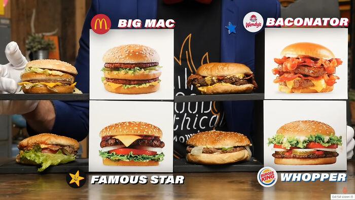 Fast Food Burgers vs. Advertisements