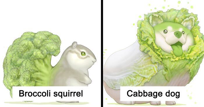 What If Animals Were Vegetables? Japanese Artist Answers That Question (47 Pics)