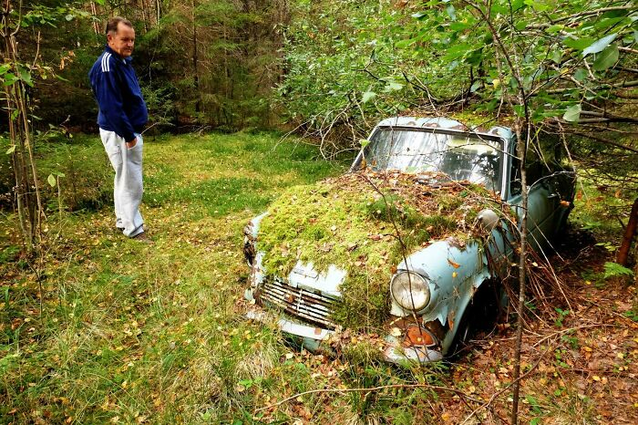 Took My Dad To See If His First Car Was Still Where He Left It When Its Engine Seized - 40 Years Ago. It Was