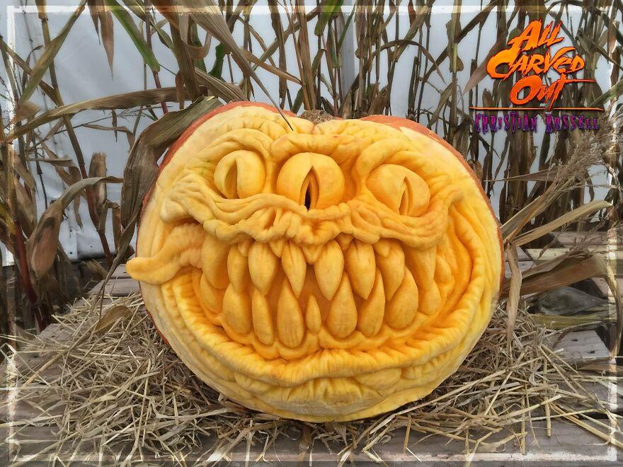 47 Kg 3-Eyed Monster Carving!